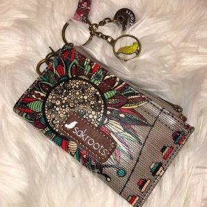 Sakroots New Wallet w/key keeper & neck strap
